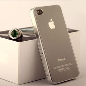 包邮】超薄王隐形水晶iphone4s清水手机
