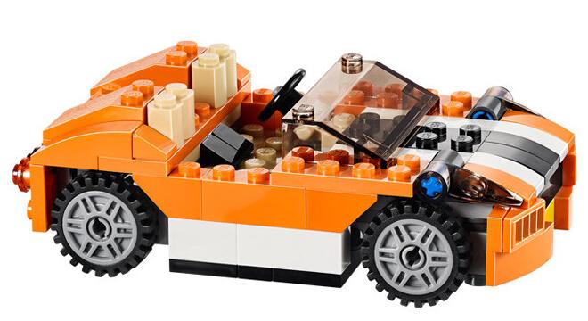 乐高(lego)创意系列l31017橙色跑车